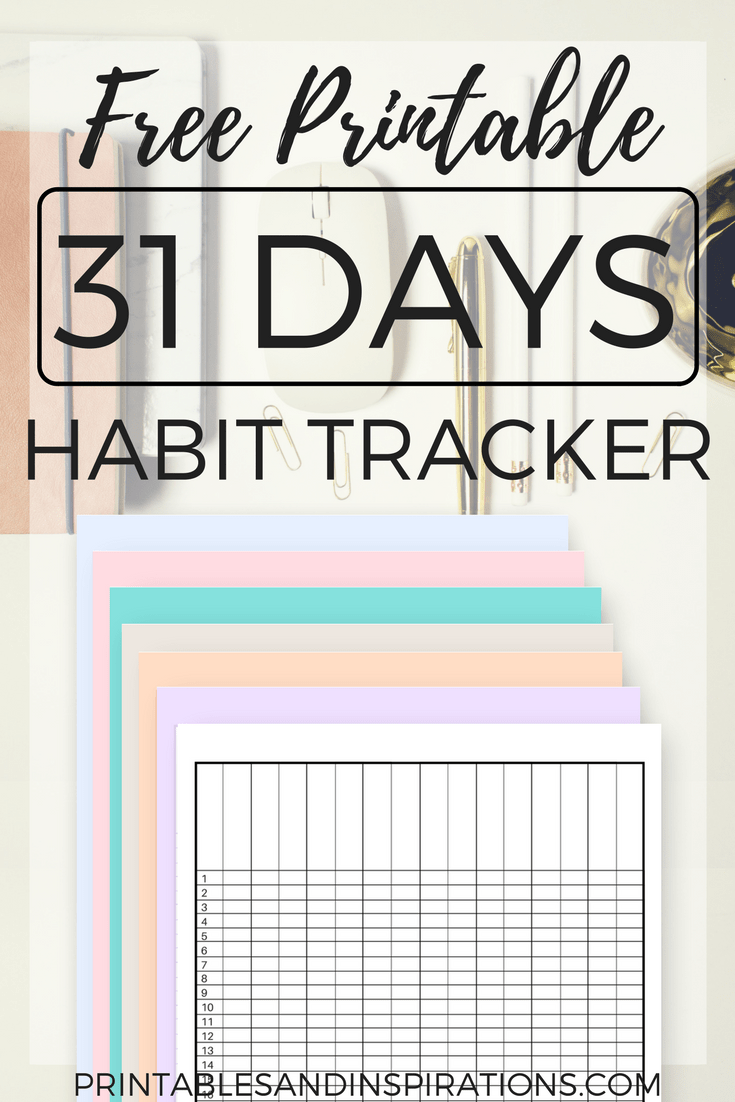 picture about Habit Tracker Free Printable named Practice Tracker Absolutely free Printable Worksheets For Anyone
