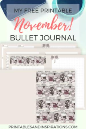 November bullet journal | free printable planner | bujo | bullet journal layout | bullet journal weekly spread | planner printables