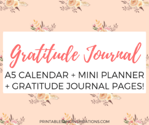 free printable gratitude journal, 2018 calendar, planner printables, 2018 monthly planner, weekly planner, monthly spread and weekly spread bullet journal layout, dot paper