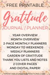 free printable gratitude journal, 2018 calendar, planner printables, 2018 monthly planner, weekly planner, monthly spread and weekly spread bullet journal layout, dot paper
