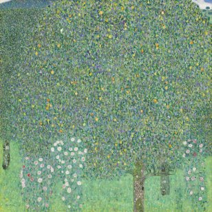 1-rosebushes-under-the-trees-gustav-klimt