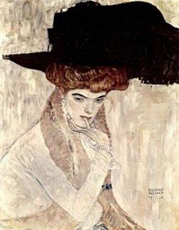 lady-with-feather-hat-gustav-klimt