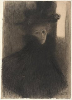 portrait-of-a-lady-with-cape-and-hat-gustav-klimt