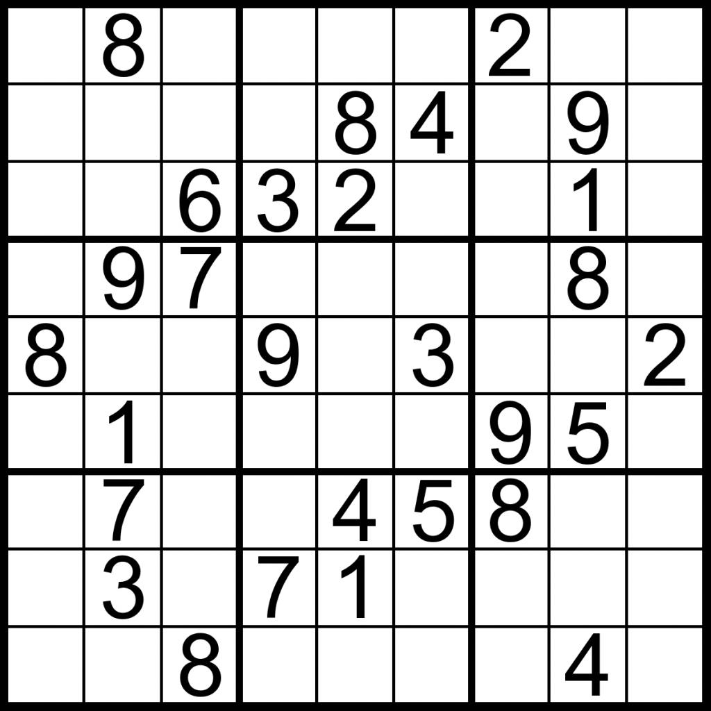 Easy Sudoku Puzzles Printable 95 Images In Collection