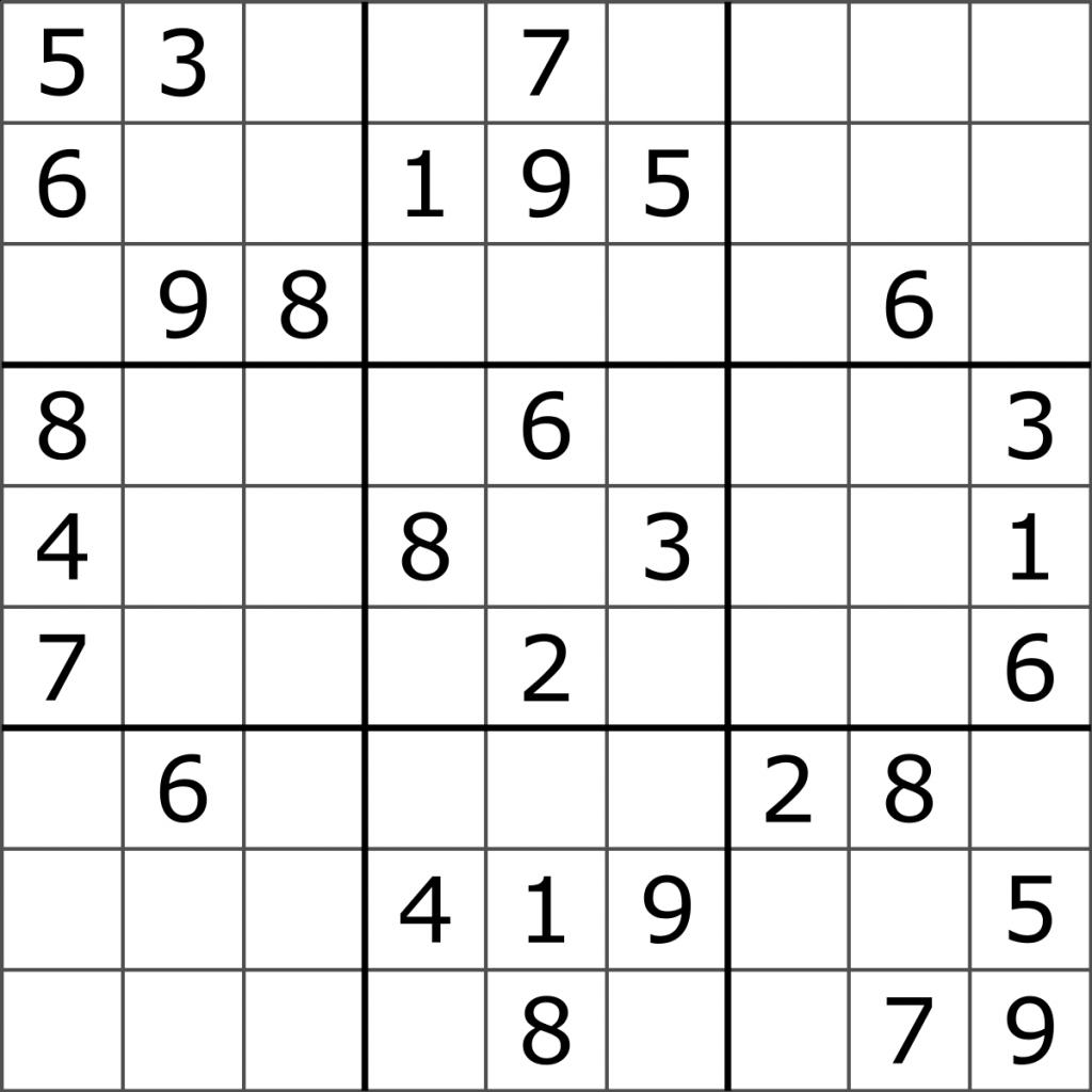 Printable Medium Sudoku Puzzles