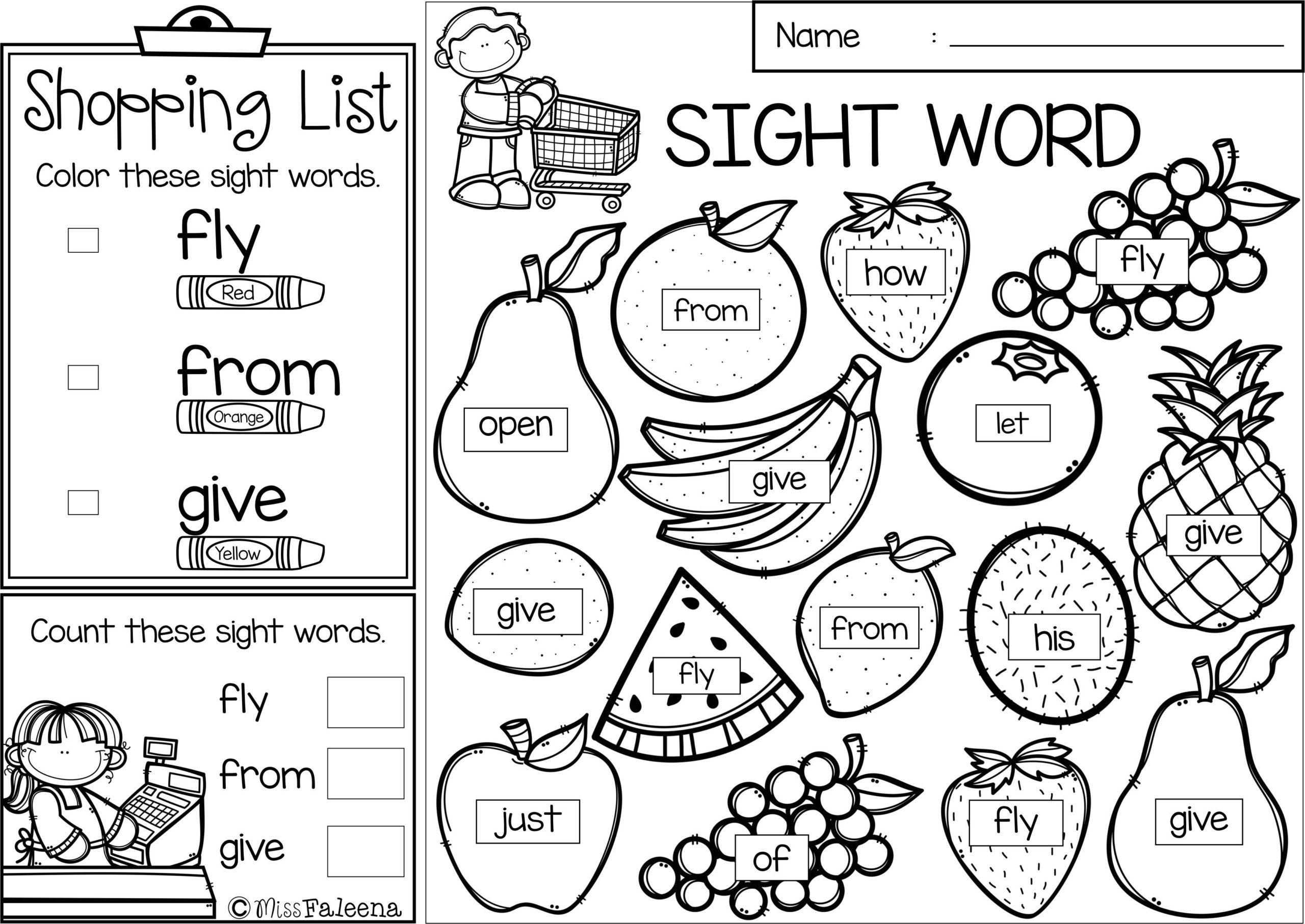 Grocery Store Math Printable Worksheets