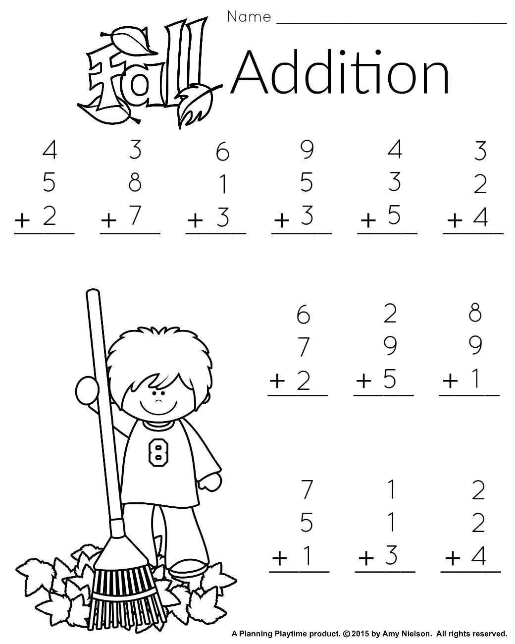 Math Free Printable Worksheets For 1st Grade