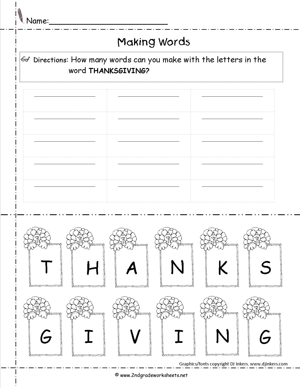 Free Printable Thanksgiving Math Worksheets For 2nd Grade