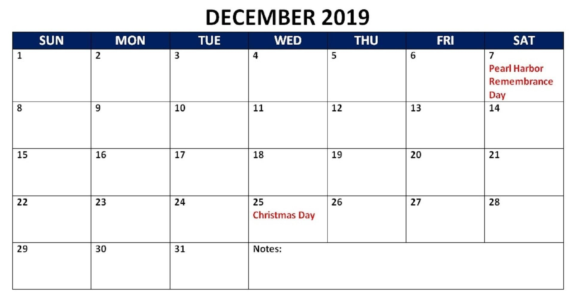 Printable December Calendar With Holidays Philippines