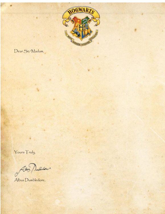 29 printable hogwarts acceptance letter