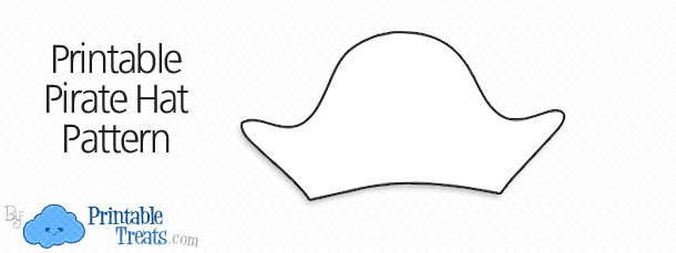 image regarding Printable Pirate Hats named Pirate Hat Template. pirate hat template for little ones. printable