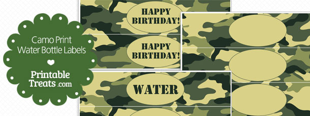 Free Printable Camouflage Water Bottle Labels Printable