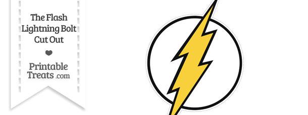 the flash lightning symbol cut out printable treats com