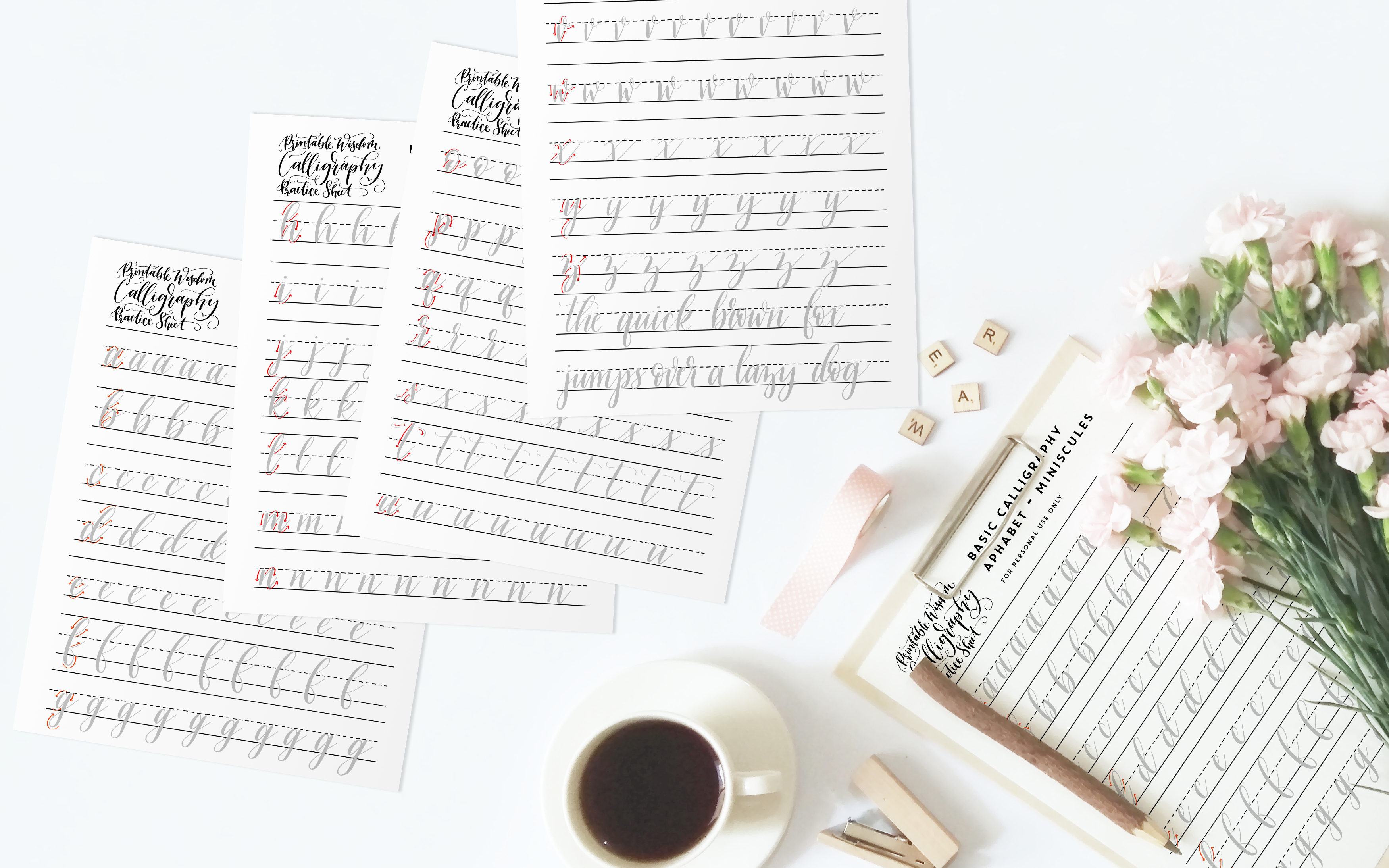 Ten Most Common Beginner Calligraphy Mistakes Printable