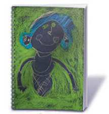 customized journals and notepads made from your kids' artwork