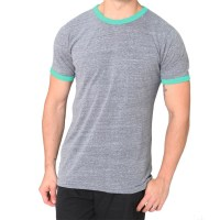 Unisex Triblend Ringer Two-Tone T-Shirt (Crew Neck)
