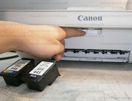Установка картриджей Canon Pixma MG2440
