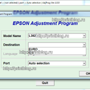 Adjustment program Epson L382, L386, L486_