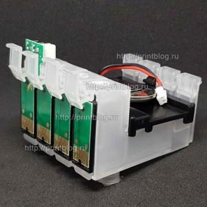 Картриджи с чипом, с батарейкой для СНПЧ Epson S22, SX130, SX125