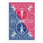 Diagonal Bicycle Red Blue Bicycle Playing Cards