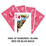 King Of Diamonds And Blank Gaff Card