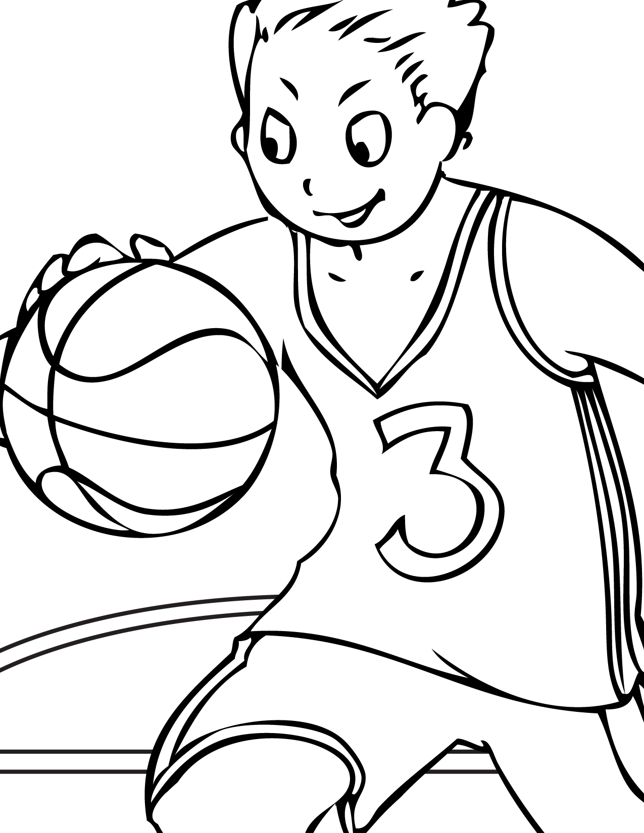 12 Coloring Pictures Basketball