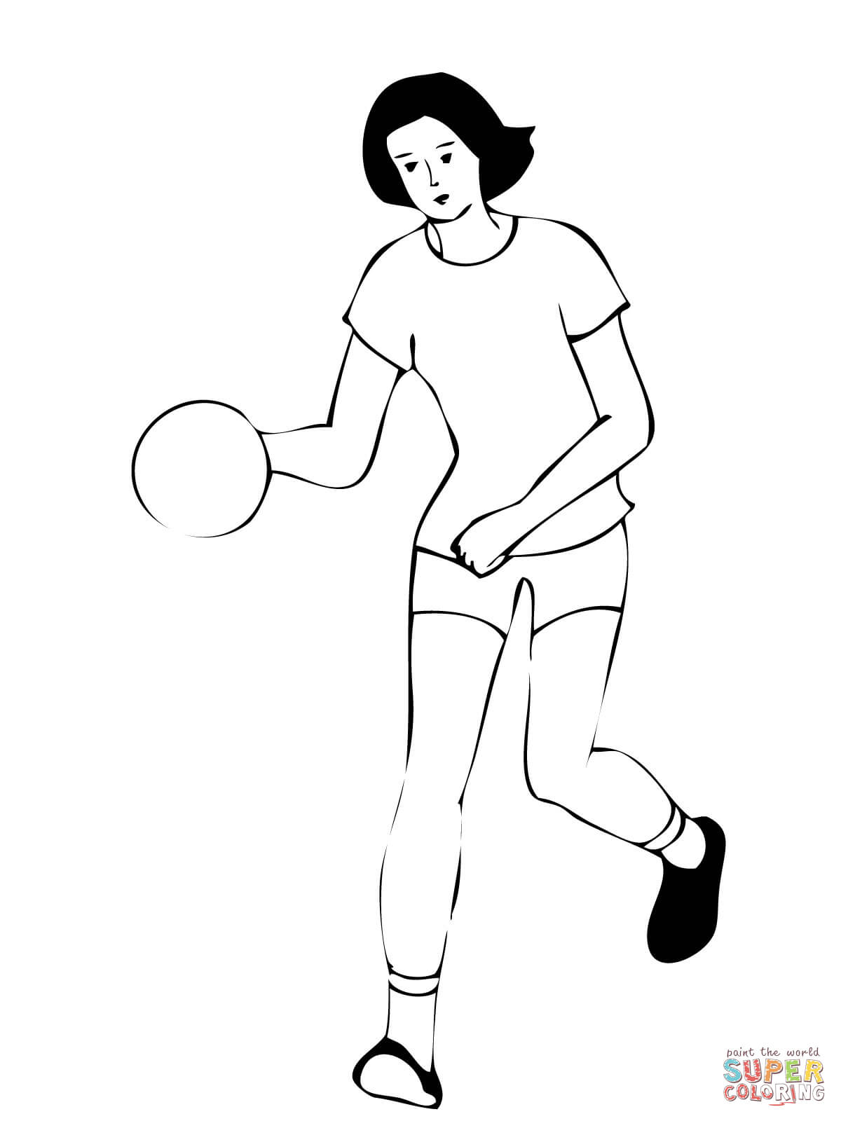 Handball Coloring Pages Coloring Pages