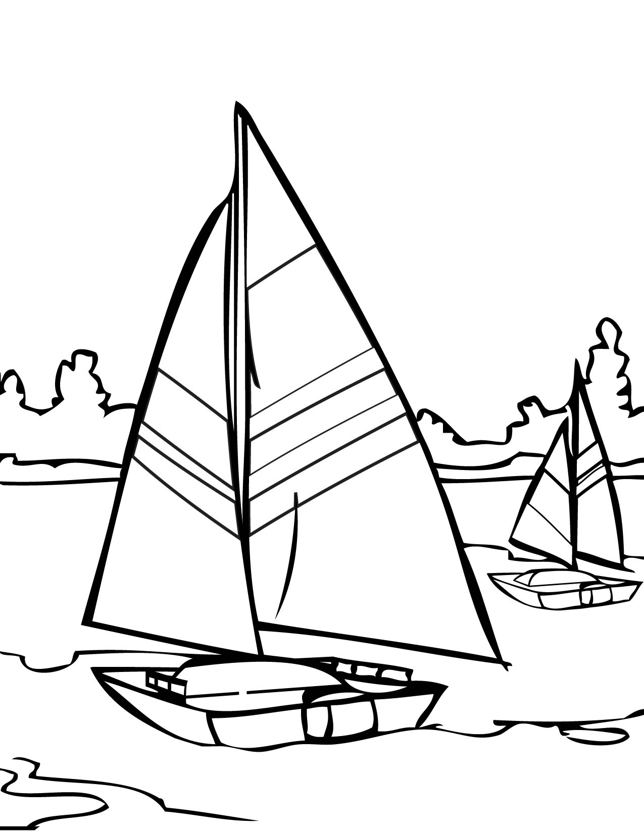 14 Printable Pictures Of Sailing Page