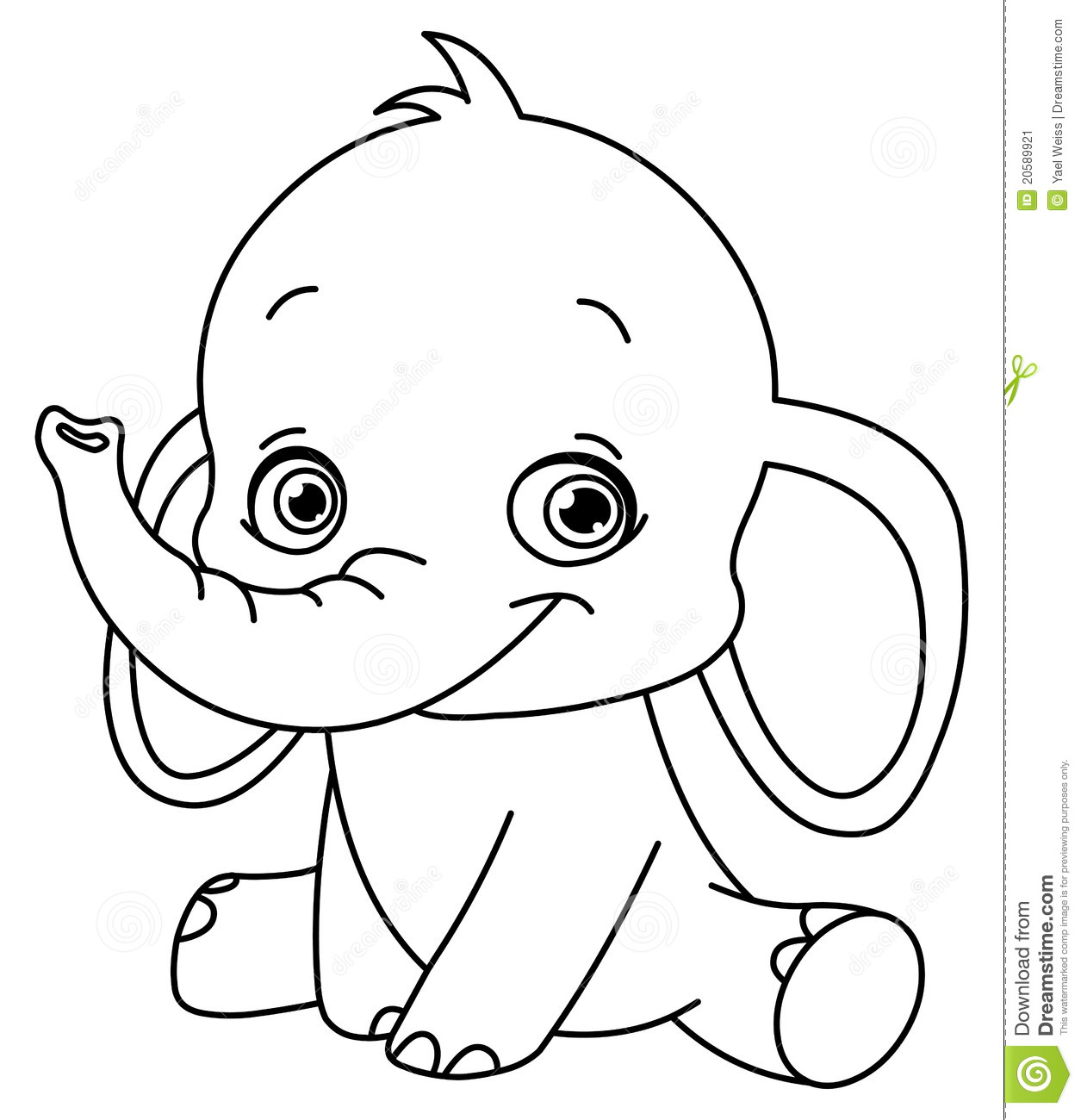 baby elephant coloring pages printable coloring pages