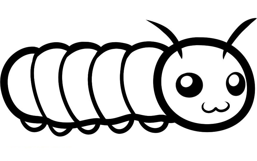 coloring pictures caterpillar printable coloring pages