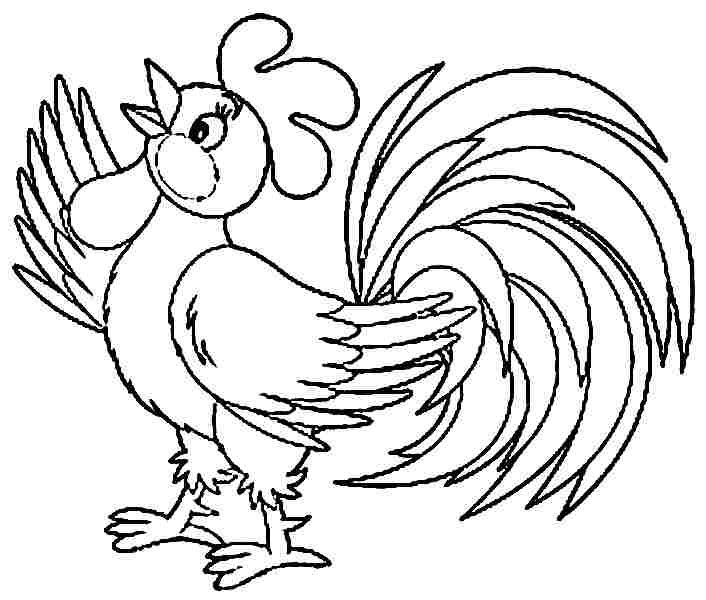 kids coloring pages rooster printable coloring pages
