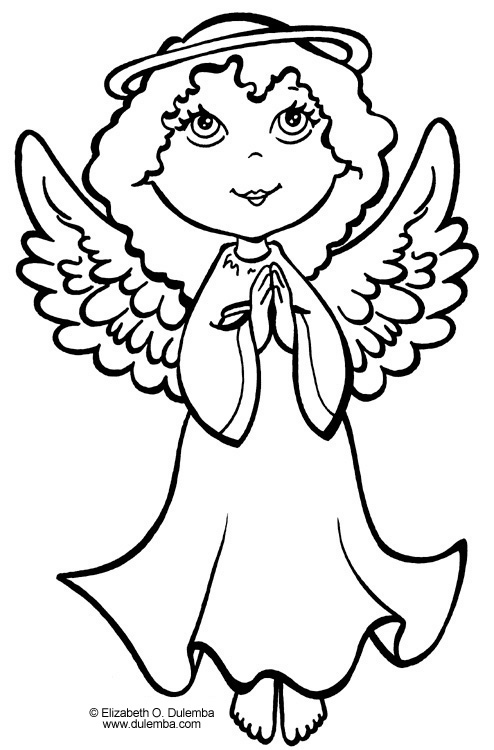 angel coloring pages printable printable coloring pages