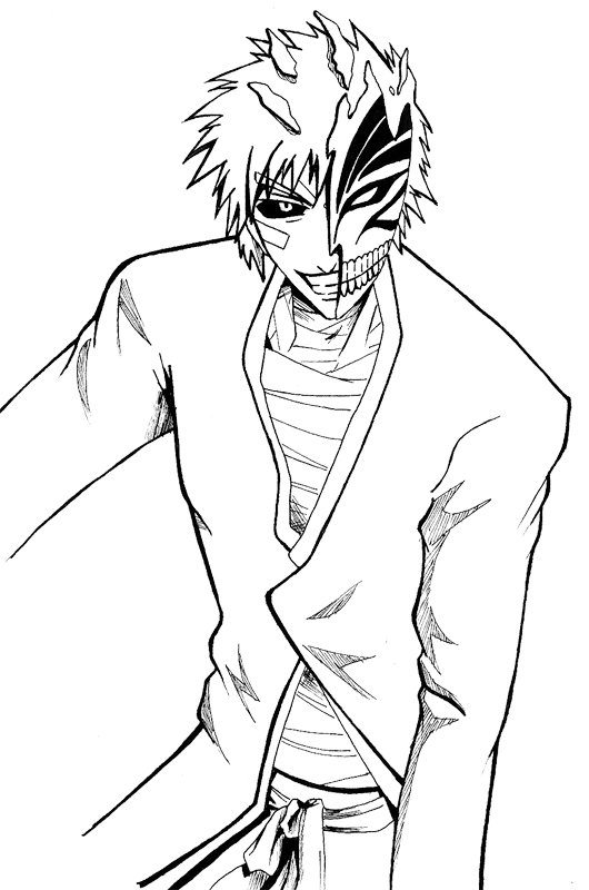 bleach coloring pages # 3