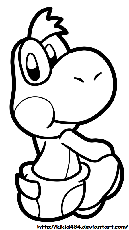 11 baby yoshi coloring pages for kids print color craft