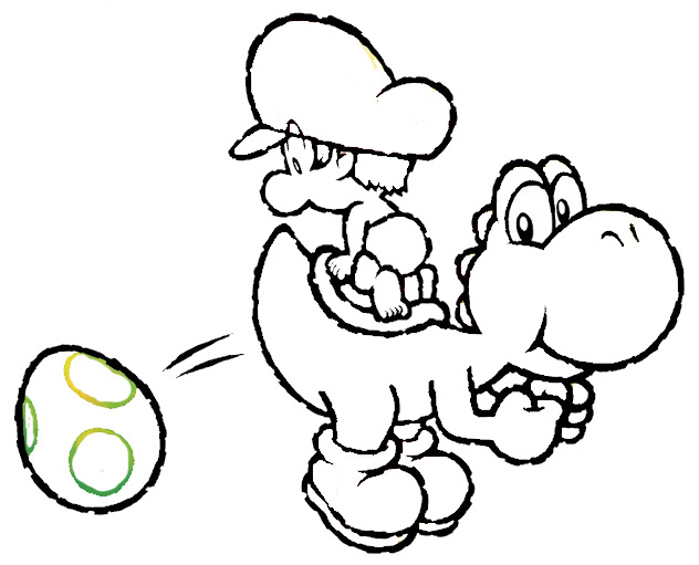 kids coloring pages baby yoshi printable coloring pages