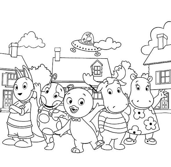 Backyardigans Coloring Pages Print. moreover horse on ...