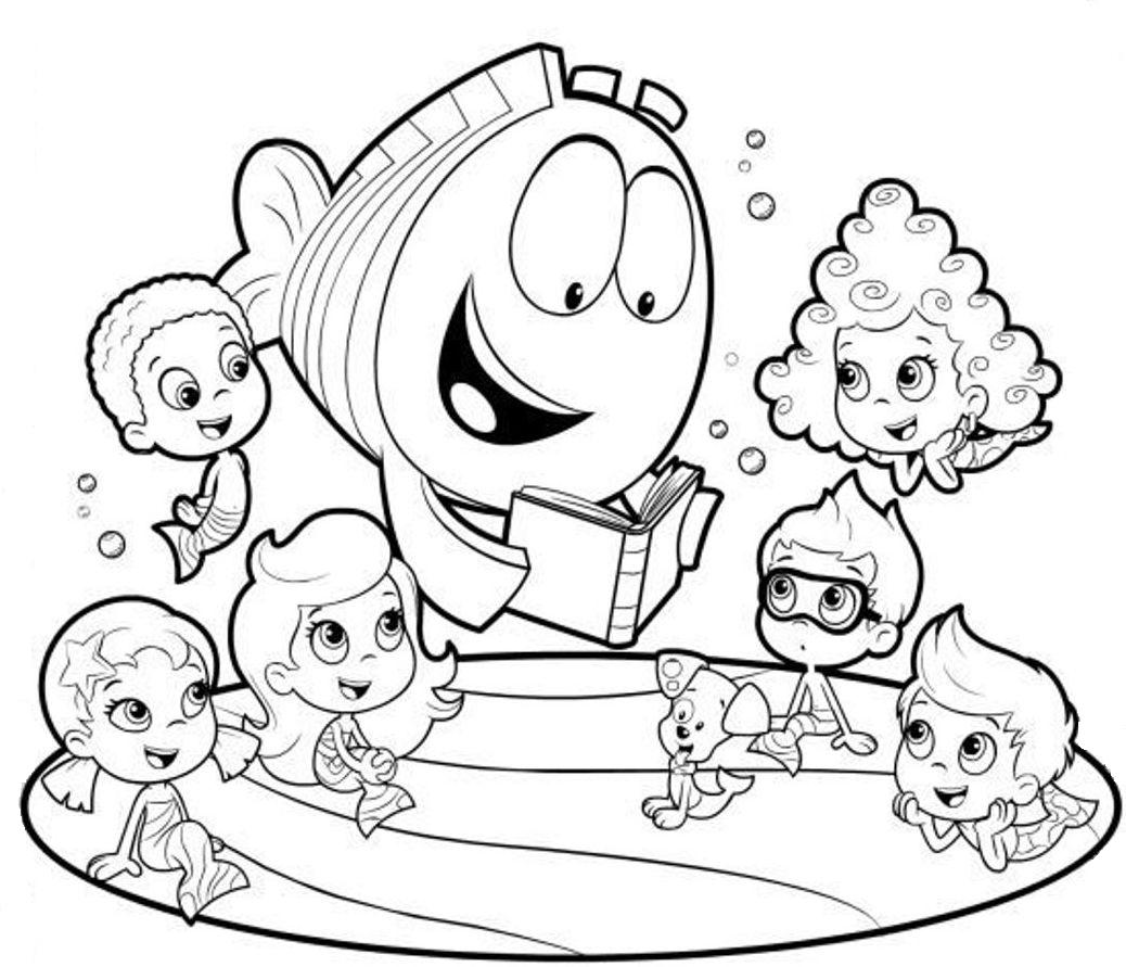 13 Bubble Guppies Coloring Page To Print