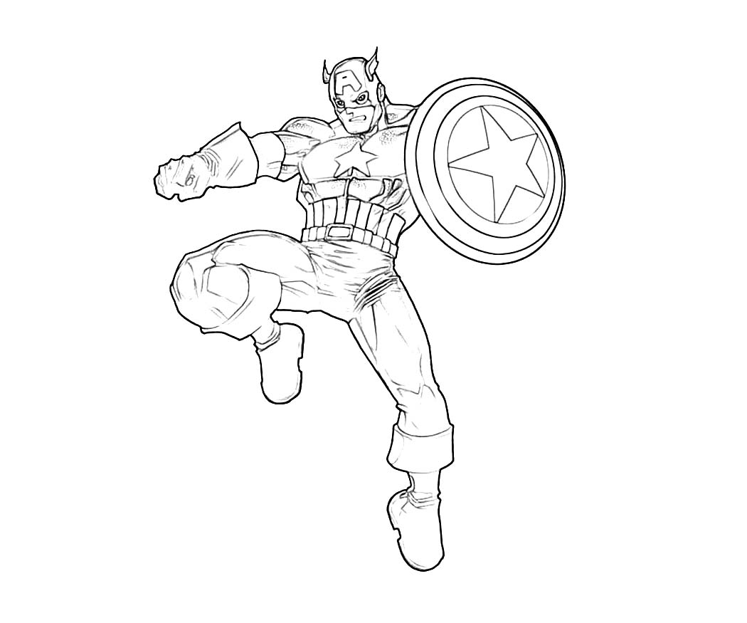 16 Printable Captain America Coloring Pages