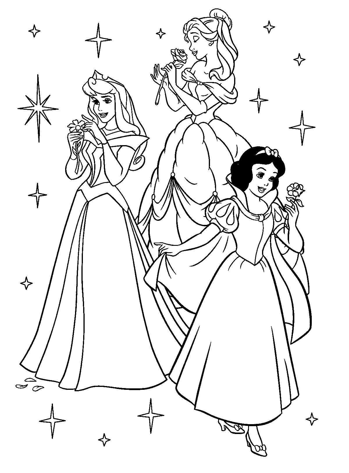 11 Disney Princess Coloring Page To Print