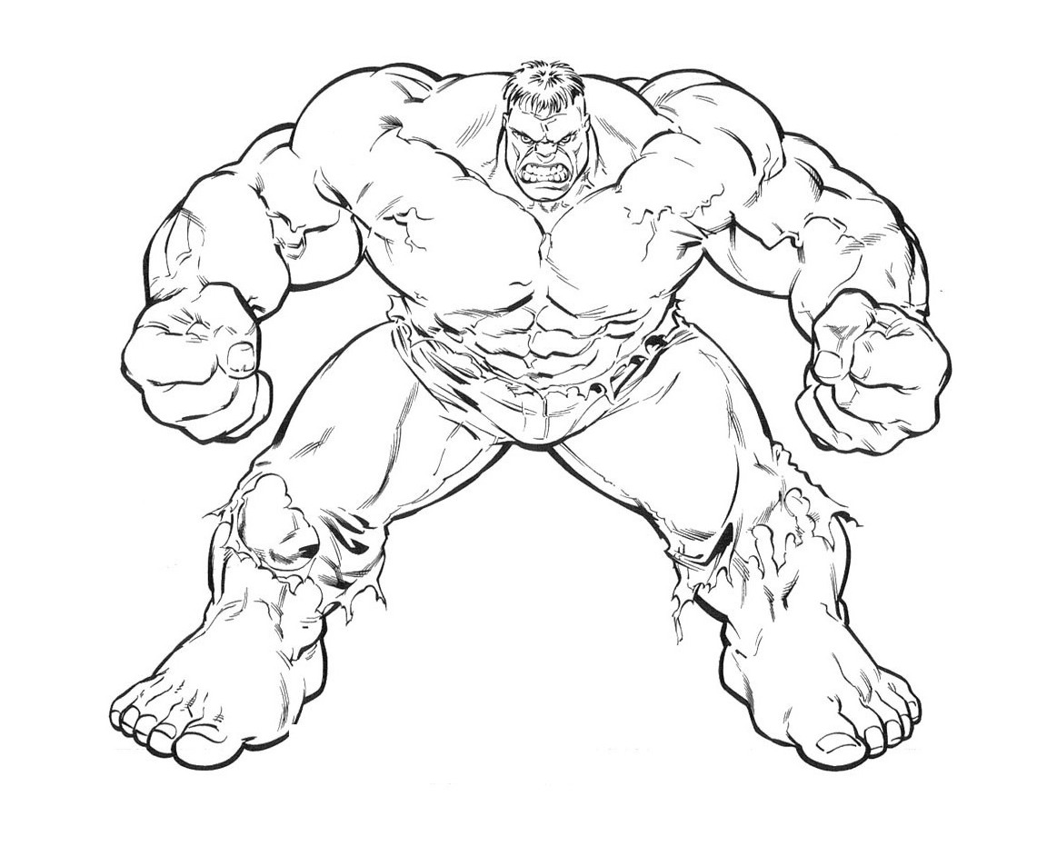 12 Hulk Coloring Pages For Kids