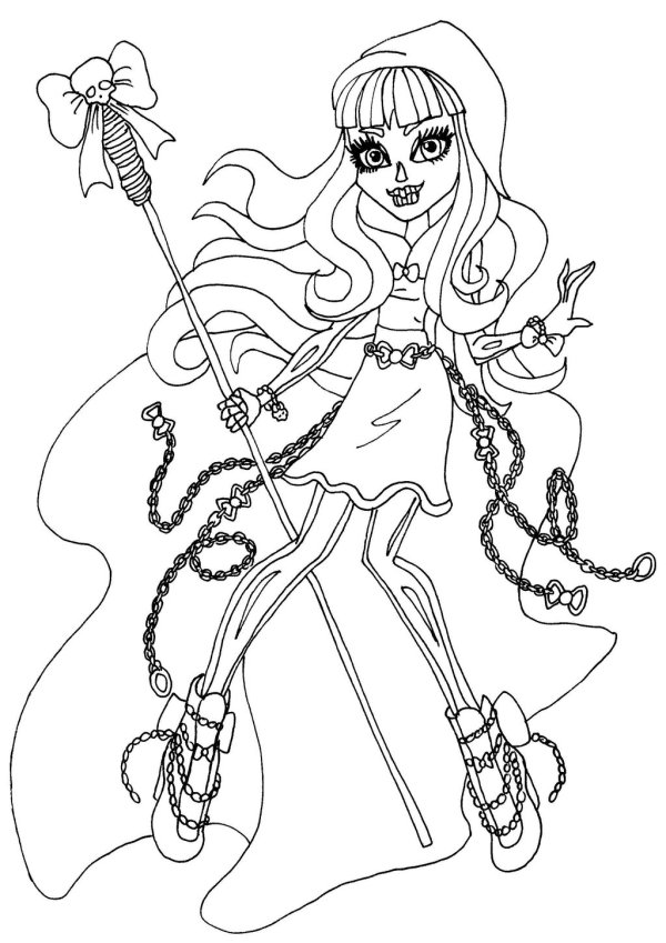 printable monster high coloring pages # 5