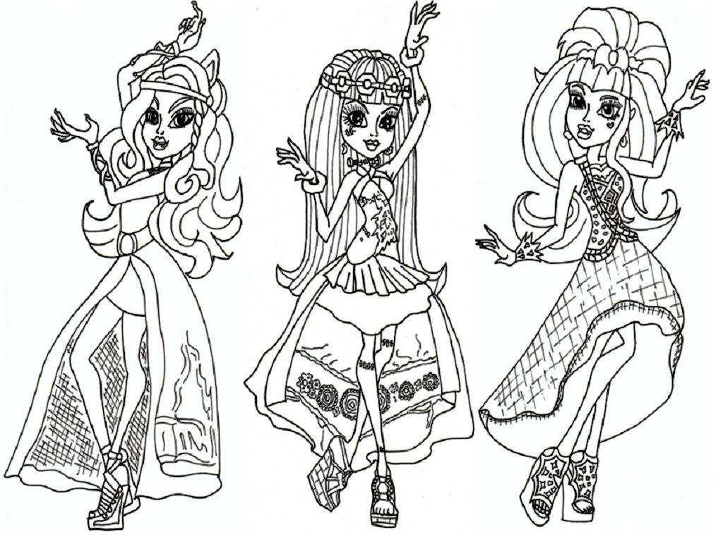 13 Monster High Coloring Pages Printable