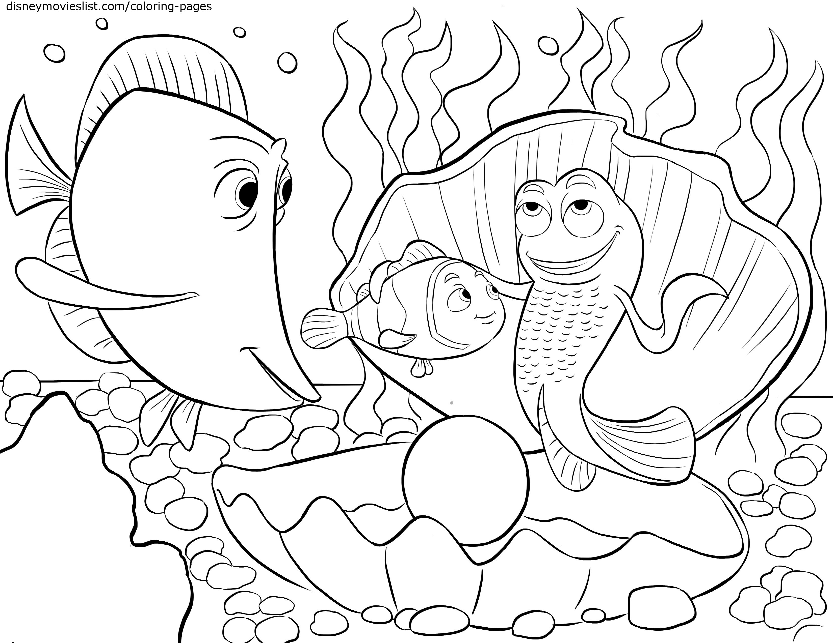 Fathers Love 15 Nemo Coloring Pages