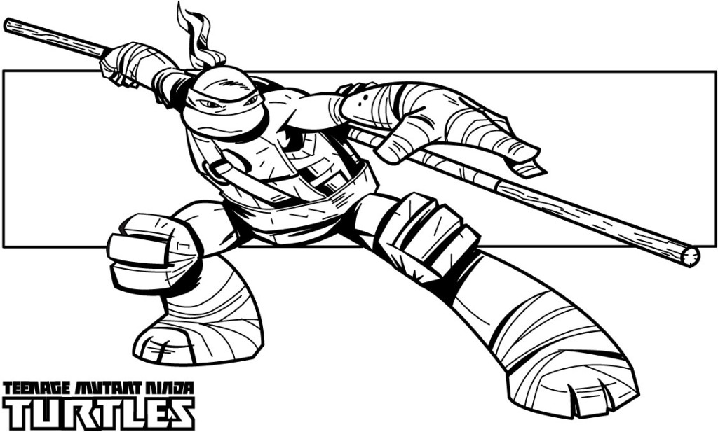 coloring pages of ninja turtles printable coloring pages