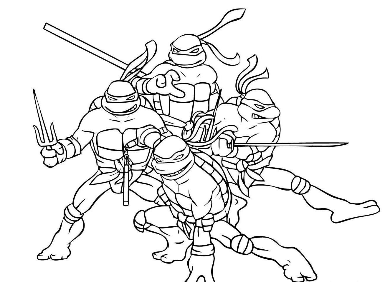 15 Ninja Turtles Coloring Page To Print Print Color Craft