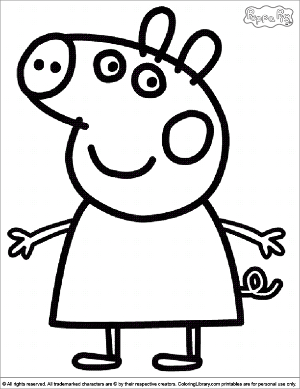 printable peppa pig coloring pages printable coloring pages