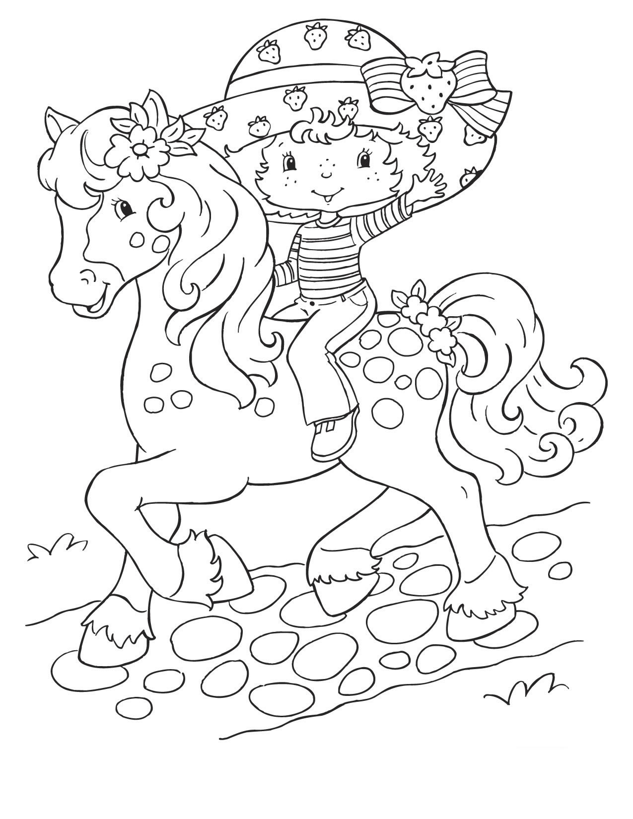 11 Strawberry Shortcake Coloring Page To Print