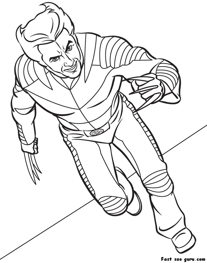 wolverine coloring pages for kids  sharp claws xmen