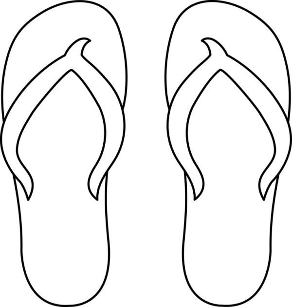 flip flop coloring page # 2