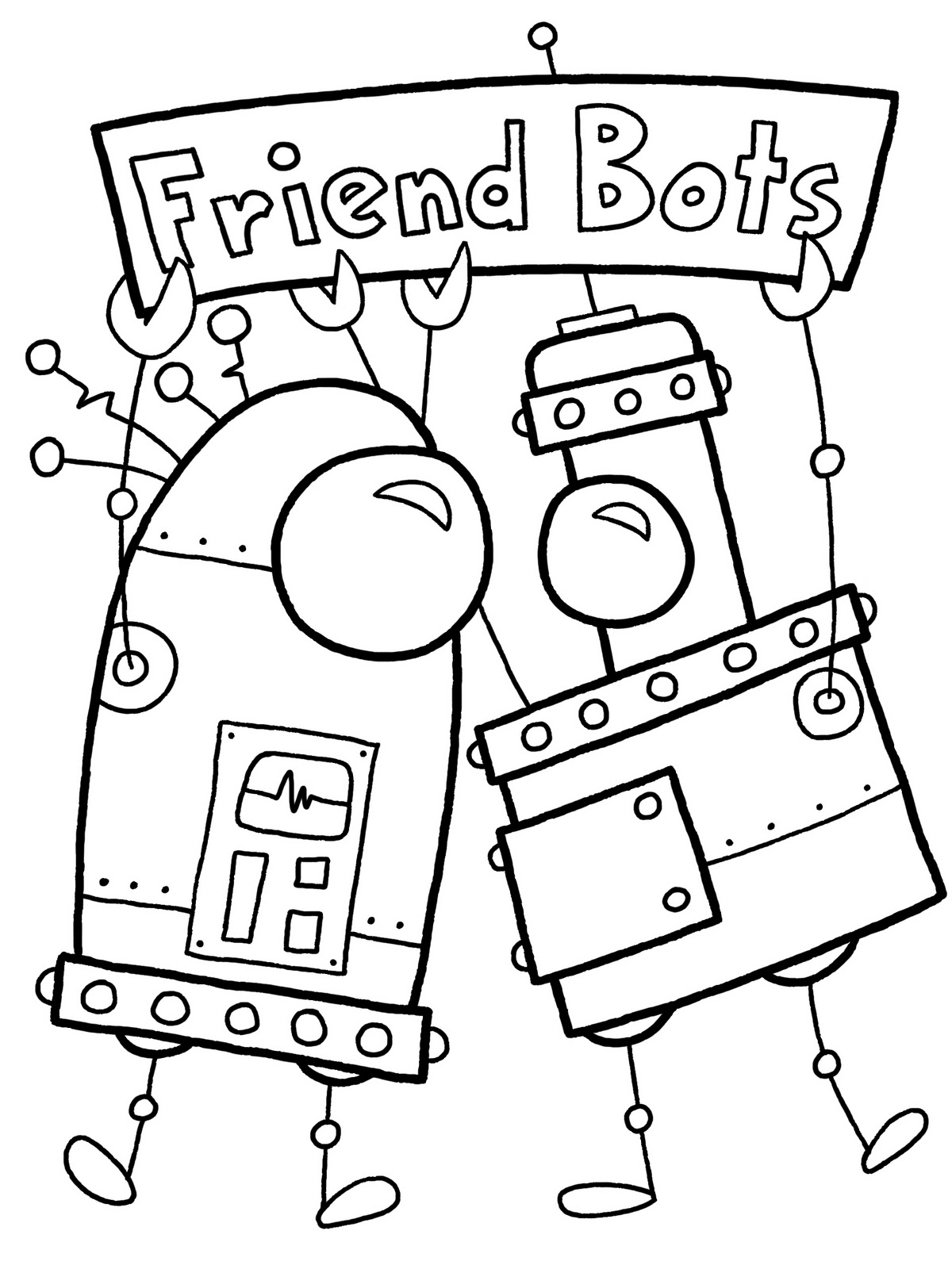 13 Coloring Pages Of Robot
